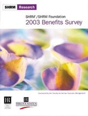 Cover of: 2003 Benefits Survey