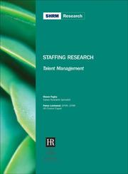 Cover of: Staffing Research-Talent Management
