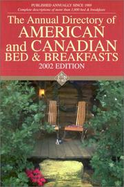 Cover of: American/Canadian B and B Dir. 2002-2003 (Annual Directory of American and Canadian Bed and Breakfasts, 2002/03)