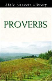 Cover of: Proverbs (Bible Answers Library)