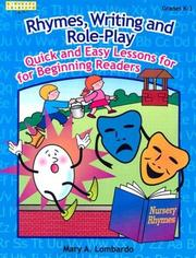 Cover of: Rhymes, Writing, and Role-Play | Mary A. Lombardo