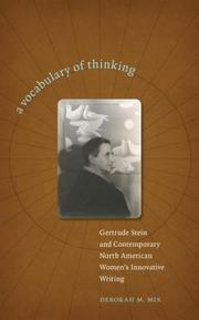 Cover of: A Vocabulary of Thinking | Deborah M. Mix