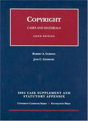 Cover of: 2004 Supplement to Copyright | Robert A. Gorman