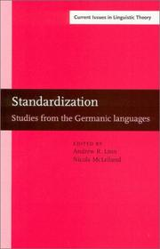 Cover of: Standardization: Studies from the Germanic Languages | Standard-Germanic Conference (2001 University of Sheffield)