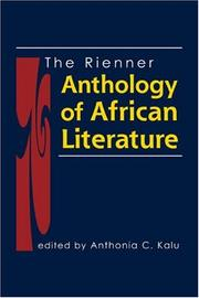 Cover of: The Rienner Anthology of African Literature | Anthonia C. Kalu