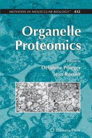 Cover of: Organelle Proteomics (Methods in Molecular Biology) |