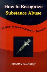 Cover of: How To Recognize Substance Abuse