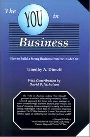 Cover of: The You in Business