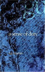 Cover of: A Sense of Duty | T. G. Martin
