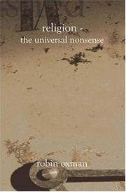 Cover of: Religion - The Universal Nonsense