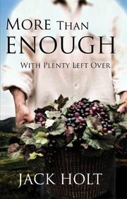 Cover of: More Than Enough with Plenty Left Over