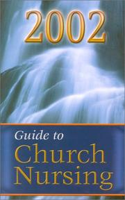 Cover of: Guide to Church Nursing (2002) | Ruby G. Lockridge