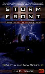 Cover of: Storm front (The Dresden Files #1) | Jim Butcher
