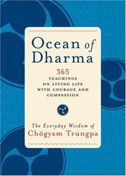 Cover of: Ocean of Dharma: The Everyday Wisdom of Chogyam Trungpa