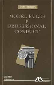 Cover of: Model Rules of Professional Conduct | American Bar Association.