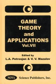 Cover of: Game Theory and Applications (Game Theory & Applications) |