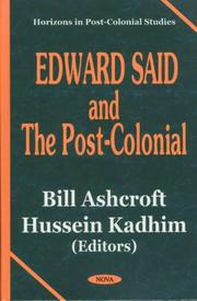 Cover of: Edward Said and the post-colonial