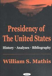 Cover of: Presidency of the United States | William S. Mathis