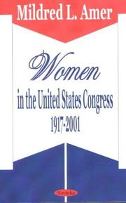 Cover of: Women in the United States Congress | Mildred L. Amer