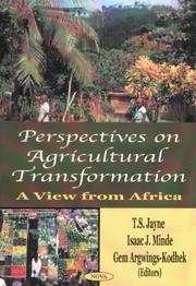 Cover of: Perspectives on Agricultural Transformation | Isaac J. Minde
