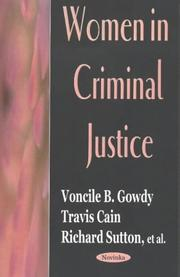Cover of: Women in Criminal Justice | Voncile B. Gowdy