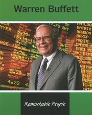 Cover of: Warren Buffett (Remarkable People) | Tamar Lupo