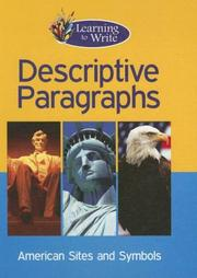Cover of: Descriptive Paragraphs (Learning to Write) | Frances Purslow