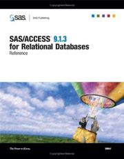 Cover of: SAS/ACCESS 9.1.3 for Relational Databases