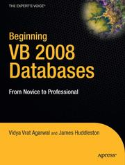Cover of: Beginning VB 2008 databases by