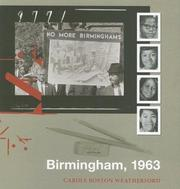 Cover of: Birmingham, 1963 | Carole Boston Weatherford