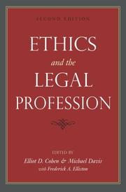 Cover of: Ethics and the legal profession