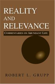 Cover of: REALITY AND RELEVANCE