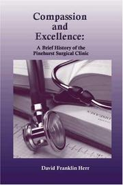 Cover of: Compassion and Excellence | David Franklin Herr