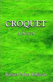 Cover of: Croquet | Barbara Parker Robinson