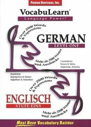 Cover of: Vocabulearn German