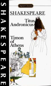 Cover of: Titus Andronicus and Timon of Athens
