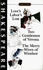 Cover of: Love's labor's lost by William Shakespeare