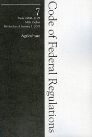 Cover of: 2005 07 CFR 1000-1199 (Agricultural Marketing Service) | Rowman & Littlefield