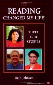 Cover of: Reading Changed My Life! Three True Stories (Townsend Library)