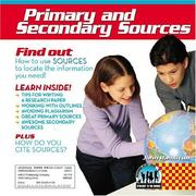 Cover of: Primary and Secondary Sources (Checkerboard Science Library Straight to the Source) | John Hamilton
