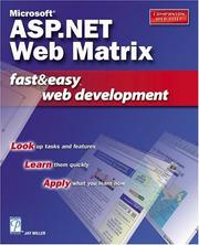 Cover of: Microsoft ASP.NET Web Matrix Fast & Easy Web Development