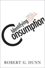 Cover of: Identifying Consumption