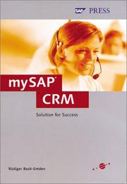 Cover of: mySAP CRM