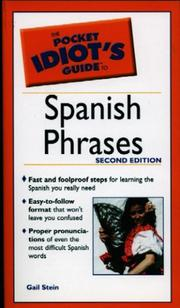Cover of: The Pocket Idiot's Guide to Spanish Phrases