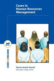 Cover of: Cases in Human Resources Management | Steven Austin Stovall