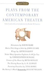 Cover of: Plays From the Contemporary American Theater