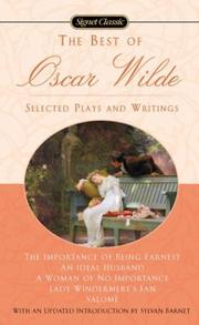 Cover of: The best of Oscar Wilde: selected plays and literary criticism