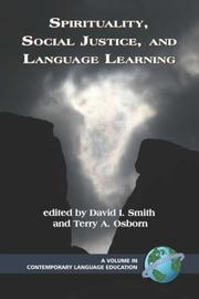 Cover of: Spirituality, Social Justice,and Language Learning (PB) (Comtemporary Language Education) |