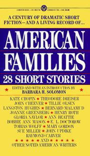 Cover of: American families |