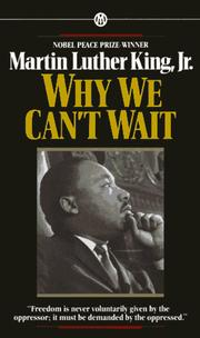 Cover of: Why We Can't Wait (Mentor)